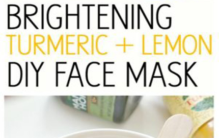 Turmeric and Lemon DIY Face Mask
