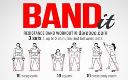 Work it Out Using a Resistance Band