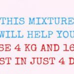 This Mixture Will Help You Lose 4 KG and 16cm Waist in Just 4 Days