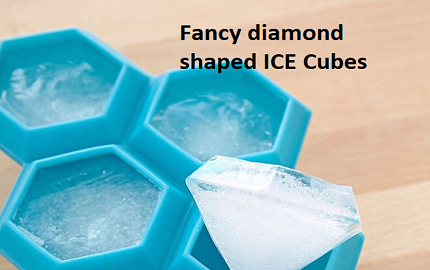 Diamond Shape Ice Cubes