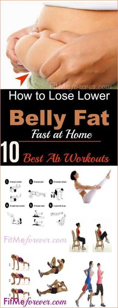 How To Lose Lower Belly Fat with 10 Best Ab Workouts