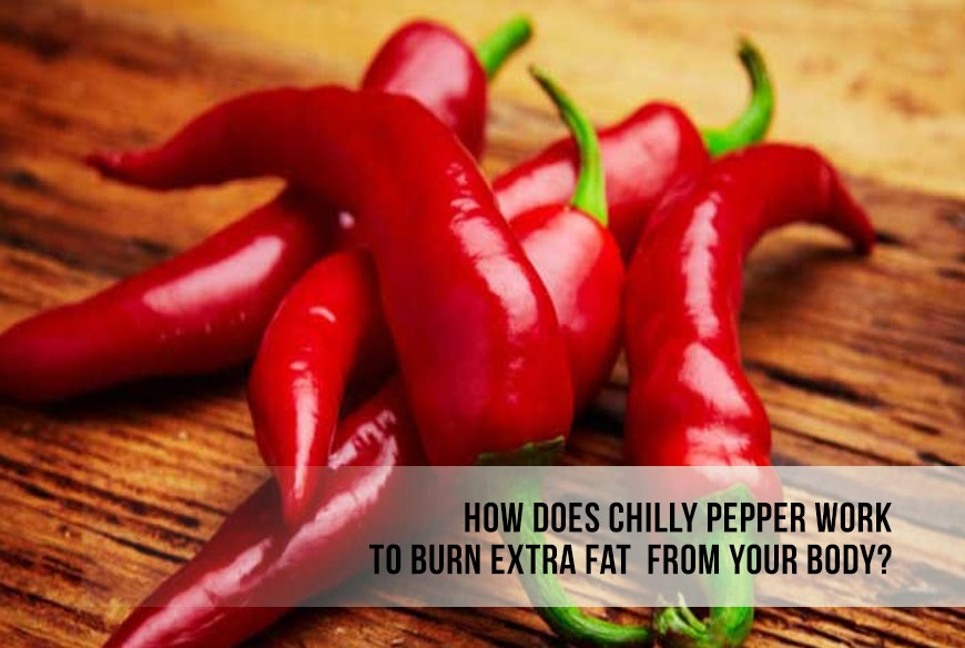 How does Chili Pepper work to burn extra fat from your body?