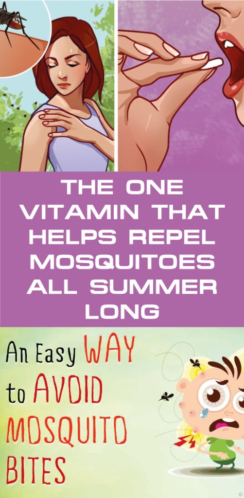 The one vitamin that helps repel mosquitoes all summer long